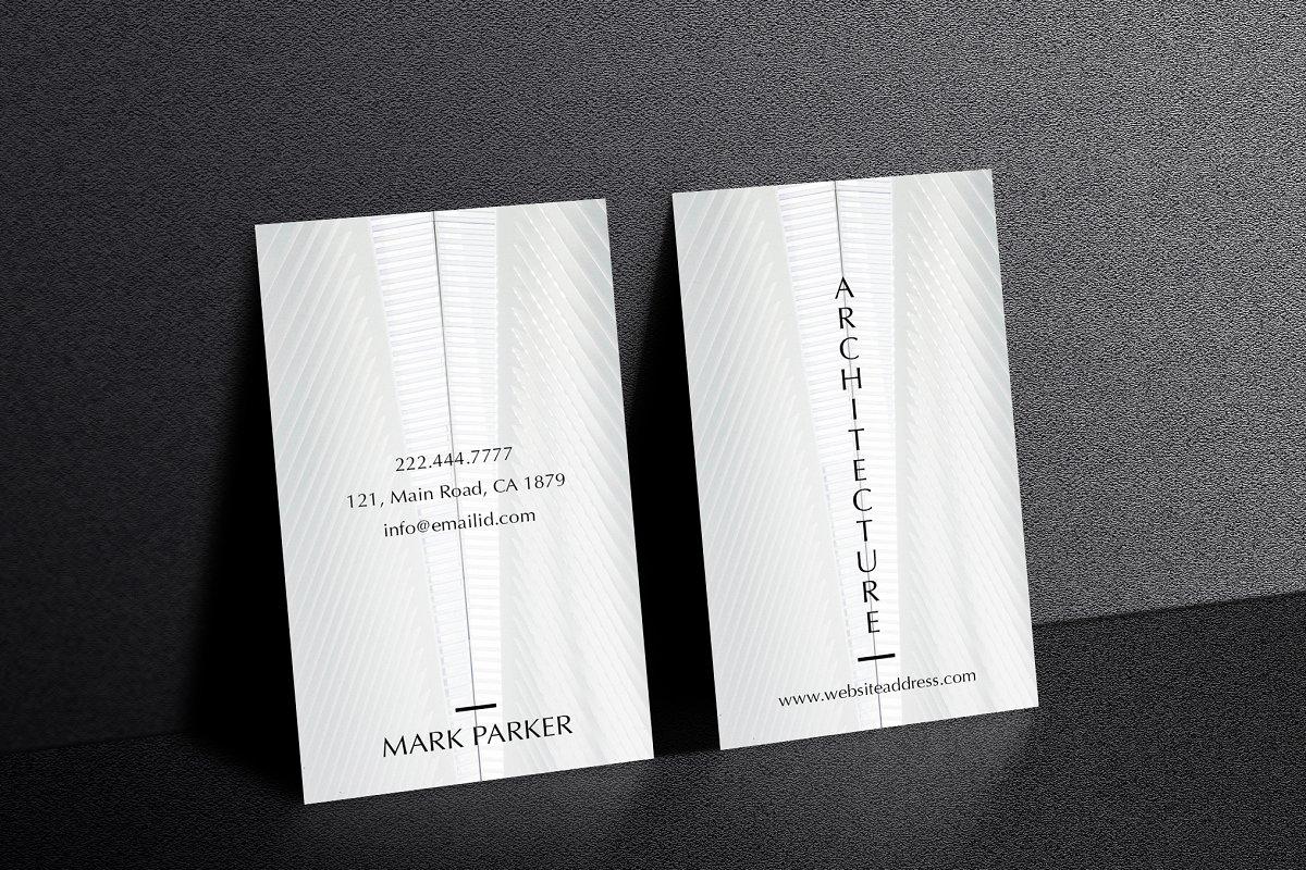 Architecture elegant business card