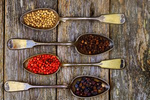 Different types of pepper spice