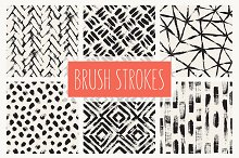 Brush Strokes. Seamless Patterns v.1