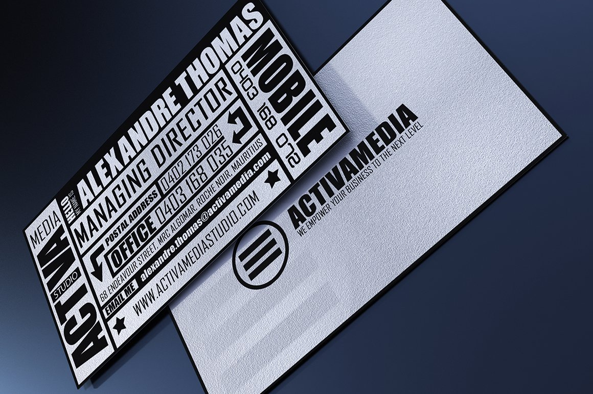 Typography Business Card ~ Business Card Templates ~ Creative Market
