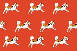 seamless dog background vector