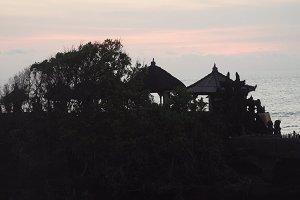 Hindu temple on the island Tanah Lot Bali,Indonesia.