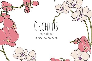 Orchids - Digital Clip Art