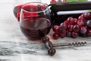 Vintage Wine Corkscrew on Marble