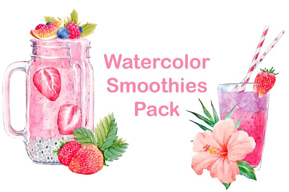 Watercolor Smoothie Pack