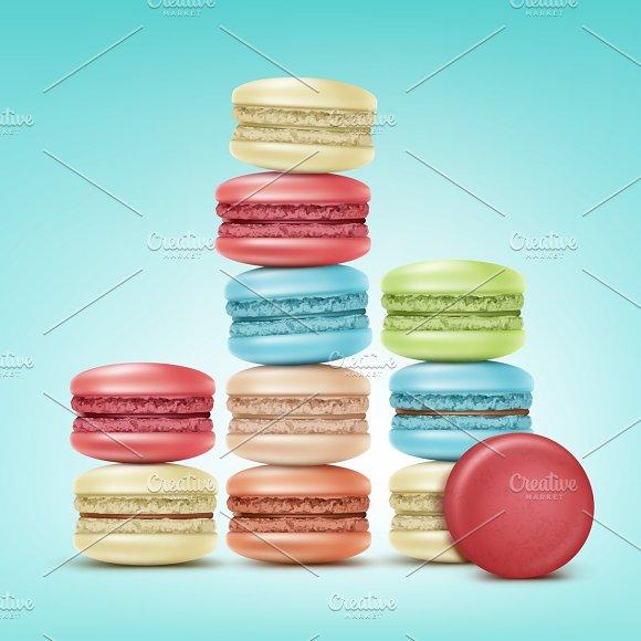 Set of macarons