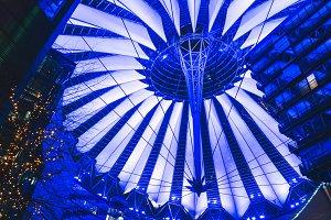 Roof of Sony Center in Berlin