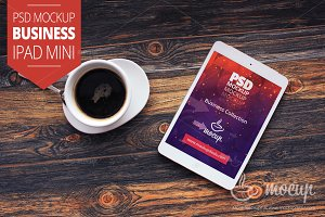 "PSD Mockup iPad Mini Business ""A"""