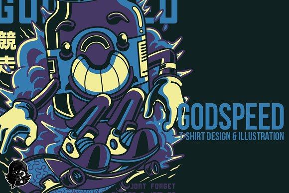 Godspeed Illustration in Illustrations
