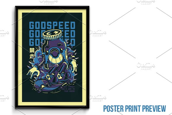 Godspeed Illustration in Illustrations - product preview 3
