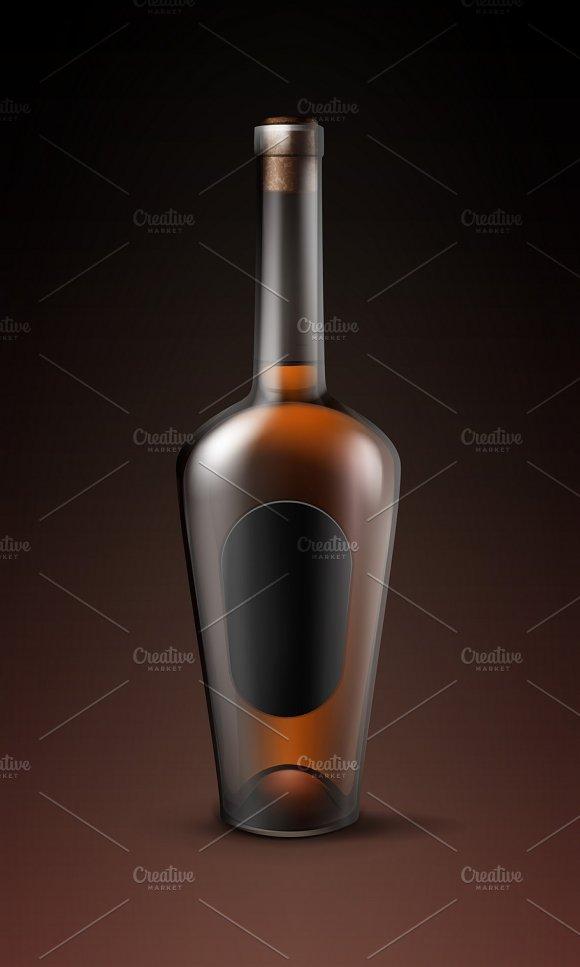 Alcohol Glass Bottle