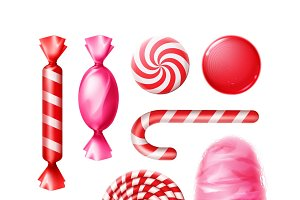 Set of candies