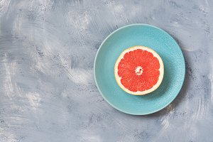 Half of the grapefruit
