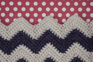 Crochet Chevron and Dot