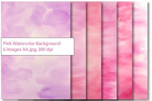 Pink Watercolor Texture Background