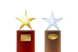 Set of star trophies