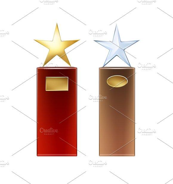 Set Of Star Trophies