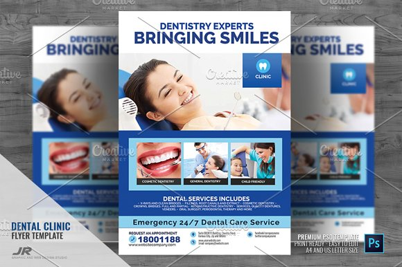 Dentistry And Dental Flyer Flyer Templates Creative Market
