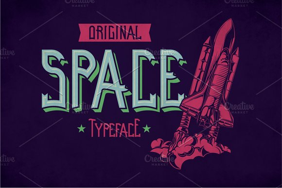 Space Modern Label Typeface