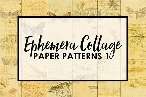 Ephemera Collage Paper Patterns 1 in Patterns