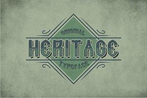Heritage Vintage Label Typeface