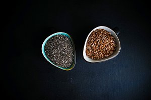 Superfood - chia and flax seeds