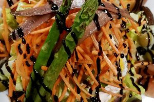 vegetable salad with asparagus