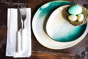 Easter holiday table setting