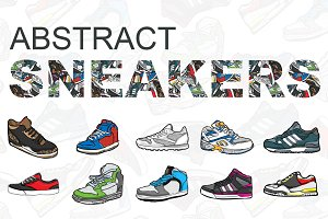 Abstract Sneaker Illustrations