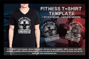2 Fitness T-Shirt Template Vol 7