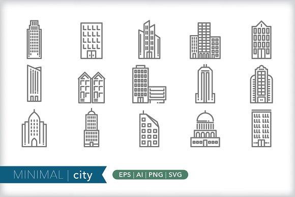 Minimal City Icons