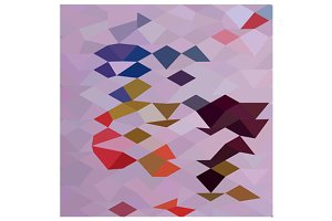 Clown Abstract Low Polygon Backgroun