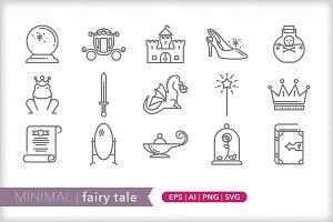 Minimal fairy tale icons