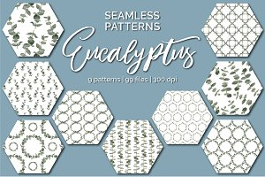 Eucalyptus Seamless Patterns
