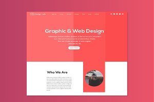 designlab Landing page with Blog