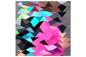 Pink Crystal Abstract Low Polygon Ba