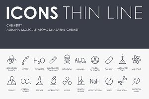 Chemistry thinline icons