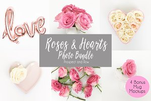Roses and Hearts Stock Photo Bundle