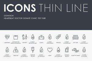Donation thinline icons