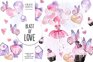 Blast Of Love Clip Art