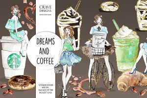 Dreams And Coffee Clip Art