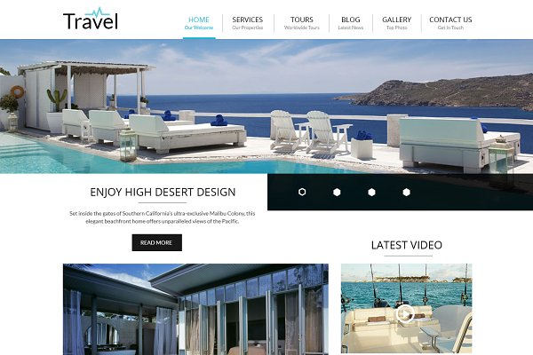 WordPress Business Themes - Travel - Responsive Wordpress Theme