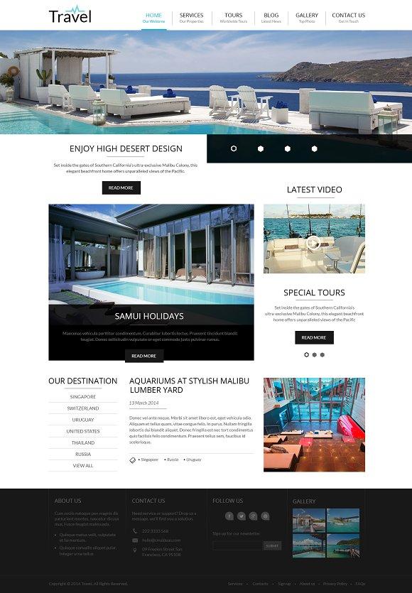 Travel - Responsive Wordpress Theme