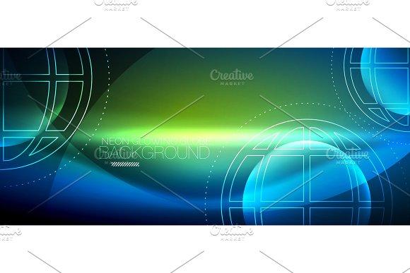 Techno Globe Concept Neon Glow Planet