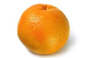 Macro photo grapefruit citrus fruit
