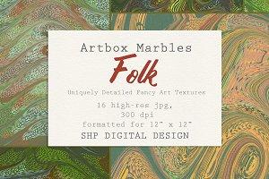 Art Textures:  Marbled Folk Song