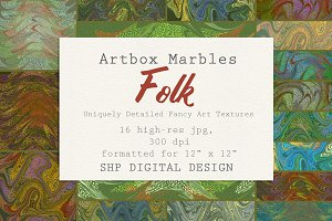 Art Textures:  Marbled Folk Song