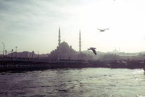 Beautiful View in Istanbul Eminonu