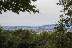 kyoto city mountain view