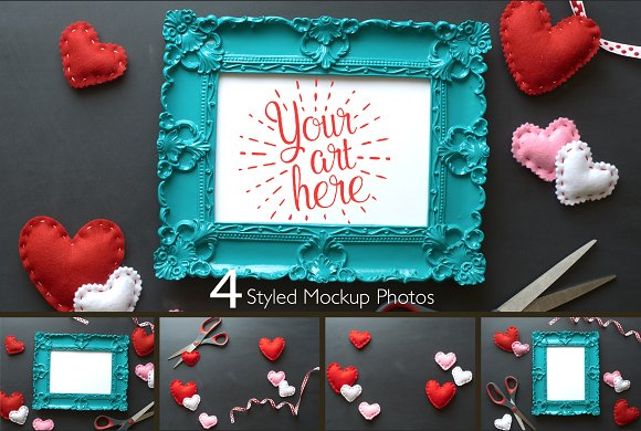 Valentines Day Picture Frame Photos